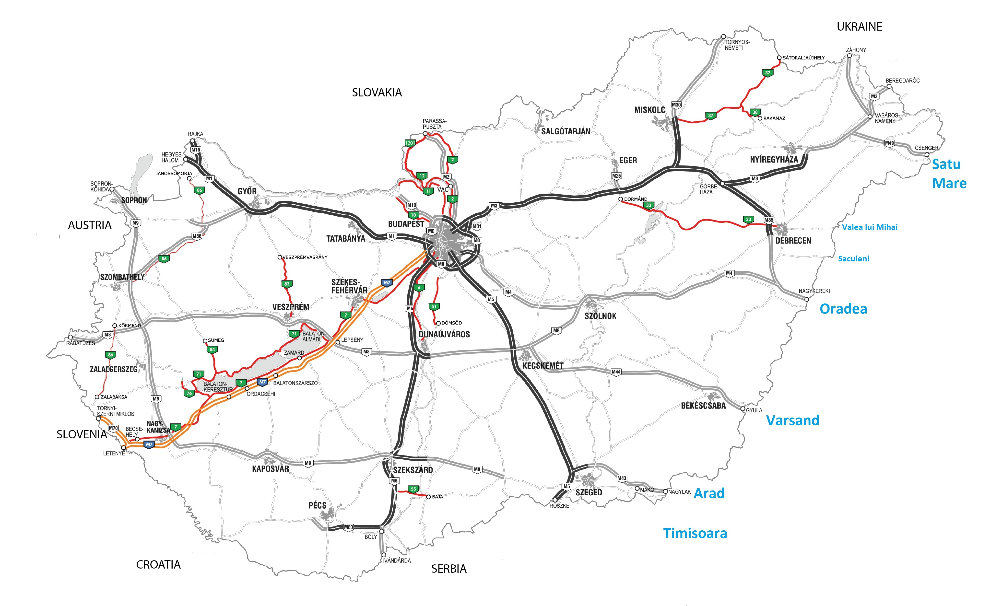 Traseu Ungaria Romania Ocolire Budapesta Firme De Transport